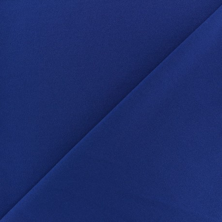 Tissu Néoprène Scuba aspect crêpe fluide - bleu roy x 10cm