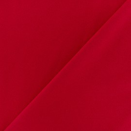 Crepe aspect light scuba fabric - Red x 10cm