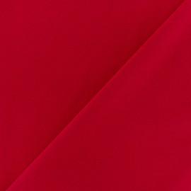 Tissu Néoprène Scuba aspect crêpe fluide - rouge x 10cm