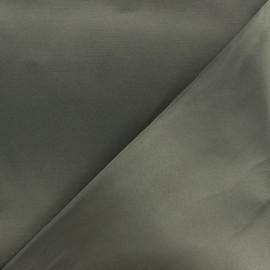 Tissu Gabardine satiné smoking - vert kaki x 10cm