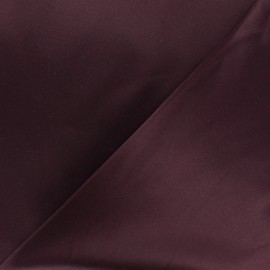 Smoking Satiny Gabardine Fabric - Burgundy x 10cm