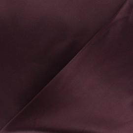 Tissu Gabardine satiné smoking - Bordeaux x 10cm