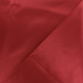 Tissu Gabardine satiné smoking - rouge x 10cm