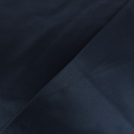 Smoking Satiny Gabardine Fabric - navy blue x 10cm