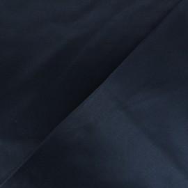 Tissu Gabardine satiné smoking - bleu marine x 10cm