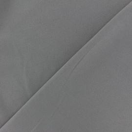 Tissu Néoprène Scuba aspect crêpe fluide - taupe x 10cm