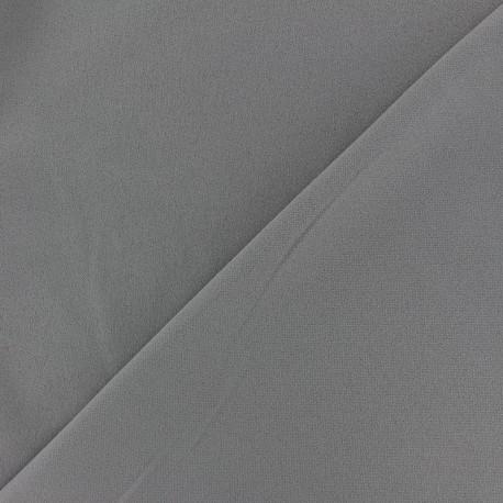 Crepe aspect light scuba fabric - taupe grey x 10cm