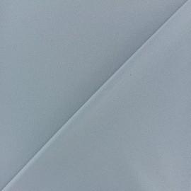 Tissu Néoprène Scuba aspect crêpe fluide - bleu gris x 10cm