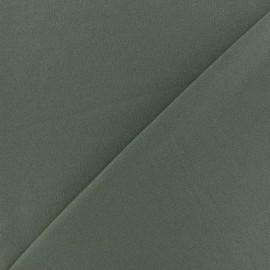 Tissu Néoprène Scuba aspect crêpe fluide - vert kaki x 10cm