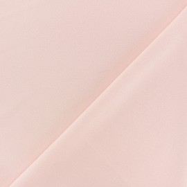 Crepe aspect light scuba fabric - light pink x 10cm