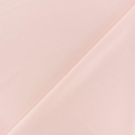Tissu Néoprène Scuba aspect crêpe fluide - rose clair x 10cm