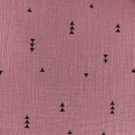 Tissu double gaze de coton MPM Sacha - Figue x 10cm