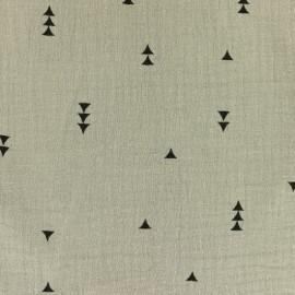 Tissu double gaze de coton MPM Sacha - beige x 10cm