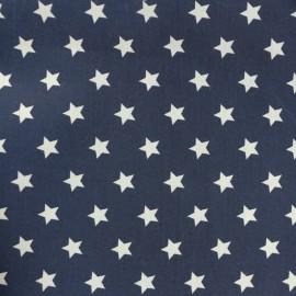 Tissu popeline Lucky Star - blanc/bleu marine x 10cm