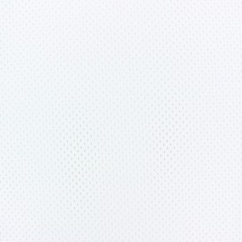 Tissu Mesh spécial sport - blanc x 10cm