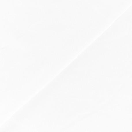 Tissu Lycra sport mat - blanc x 10cm