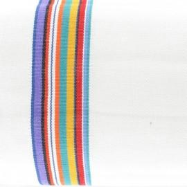 ♥ Coupon tissu 20 cm X 50 cm ♥ Tissu coton Tommy Blanc