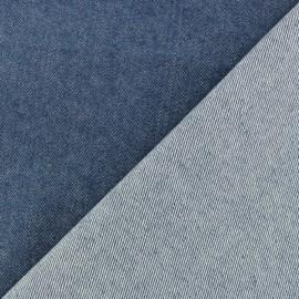Tissu jeans Polycoton élasthanne - bleu x 10cm