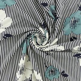 Tissu jersey viscose Hakura - bleu x 30cm