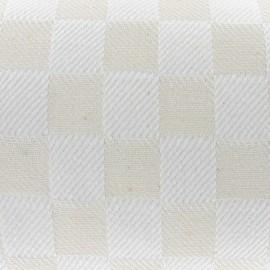 Cotton Fabric - Damier Ecru (50cm) x 10cm