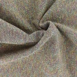 Tissu sweat léger gris lurex - Arc en ciel x 10cm