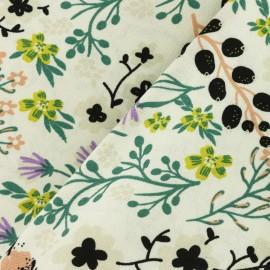 Linen viscose fabric - off-white Spring x 10cm