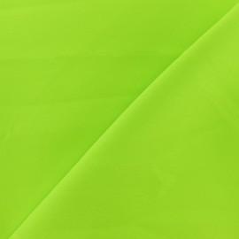 Tissu burling souple - Vert fluo x 10cm