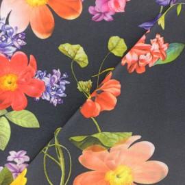 Tissu Jersey Milano polyester Joy - noir x 10cm