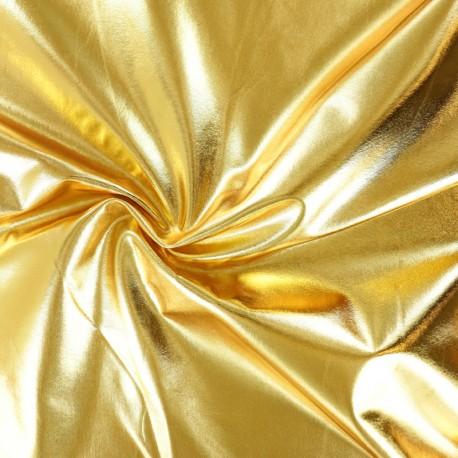 Metallic Lycra fabric - Gold Power x 10cm