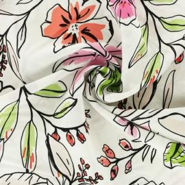 Tissu Viscose Anaïs - rose x 10cm
