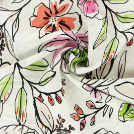 Viscose Fabric - Pink Anaïs x 10cm