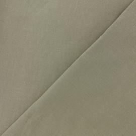 Tissu Coton uni - grège x 10cm