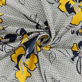 Tissu jersey viscose Leila - bleu x 10cm
