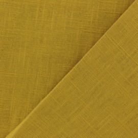 Tissu lin lavé (laize: 135cm) - curry x 10cm