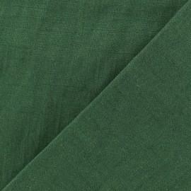 Tissu lin lavé (laize: 135cm) - Cyprès x 10cm