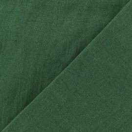 Washed Linen (135cm) Fabric - cypress green x 10cm