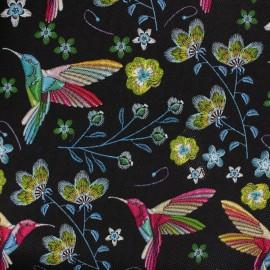 Simili cuir souple Colibri - noir x 20cm