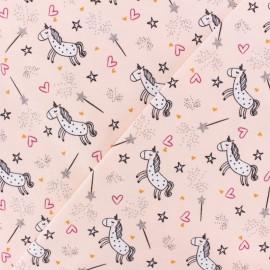Poppy Jersey fabric - mint green Unicorn dream x 10cm