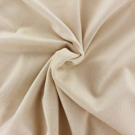 Suede elastane fabric Aspect Daim - ecru x 10cm