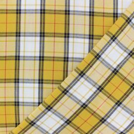 Twill viscose fabric - yellow Joanne x 10 cm