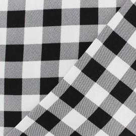 Tissu twill viscose Dorian - noir et blanc x 10 cm