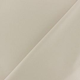 Tissu Néoprène Scuba aspect crêpe fluide - sable x 10cm