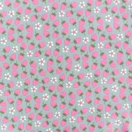Tissu coton popeline Poppy Lemonade - rose x 10cm