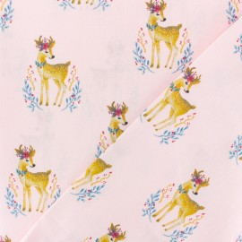 Cotton poplin fabric Poppy - pink Lemonade x 10cm