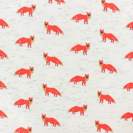 Poppy Jersey fabric - raw Aircraft x 10cm
