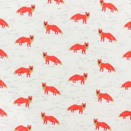Tissu jersey Poppy Fancy Fox - écru x 10cm