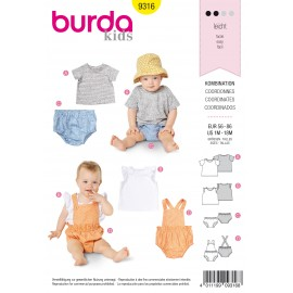 Baby Ensemble Sewing Pattern - Burda Kids N°9316