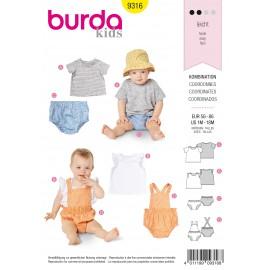 Patron Ensemble Bébé Burda N°9316
