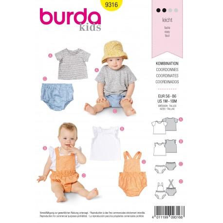 Patron Ensemble pour Bébé Burda N°9316