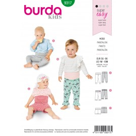 Baby Pants Sewing Pattern - Burda Kids N°9317